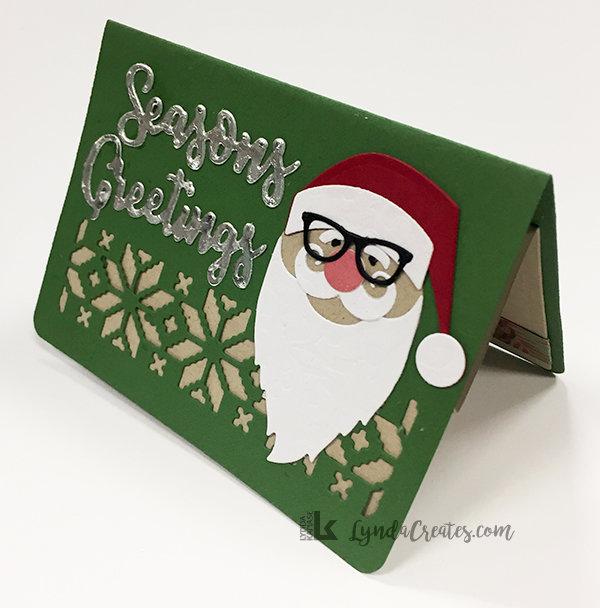 Seasons Greeting Santa Gift Card Holder