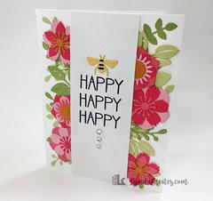 Bee Happy Flower Card