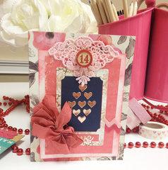 Valentine Card with Vintage Bits