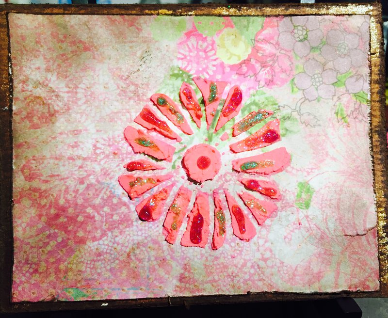 Antiqued Floral All Occasion Card