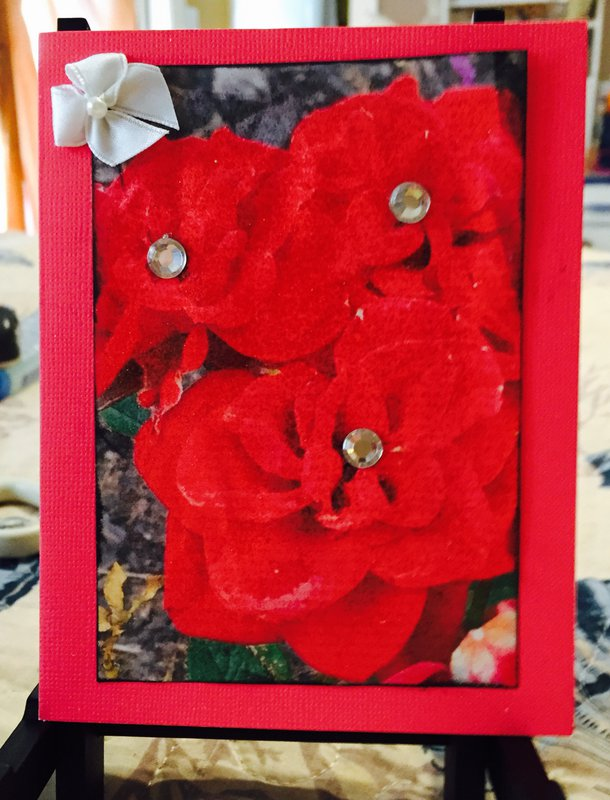 Photo Floral Card #1