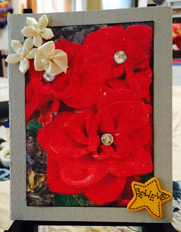 Floral Photo Card #2