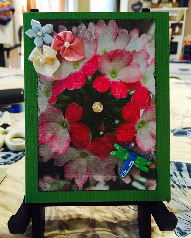 Floral Photo Card #5