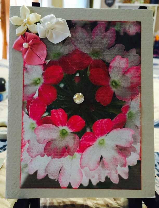Floral Photo Card #6