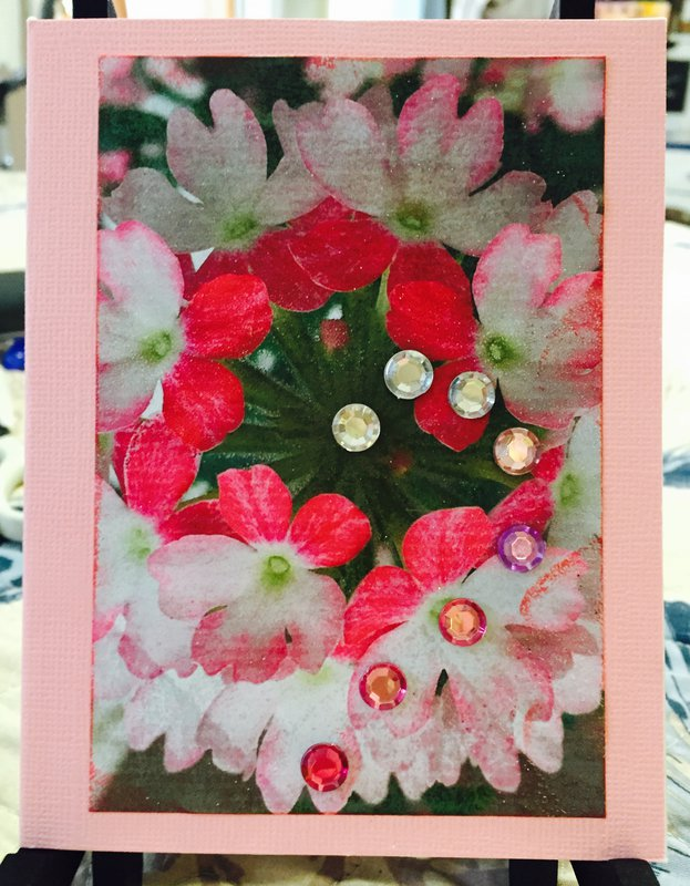 Floral Photo Card # 7