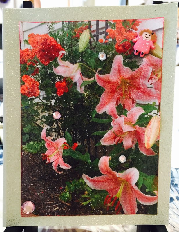 Floral Photo Card #8