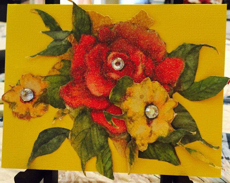 3D Floral Card
