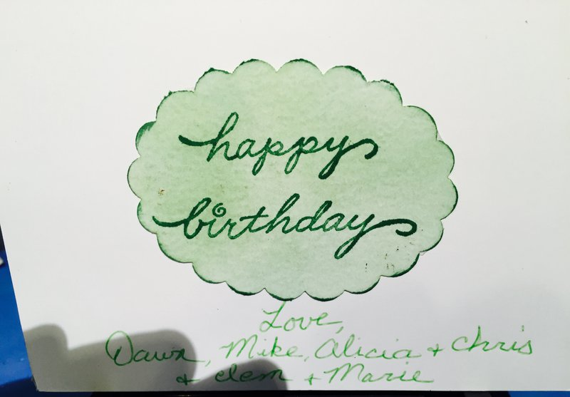 Flower Burst Birthday Card #2: inside