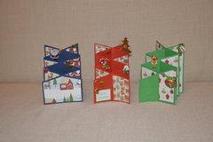 Christmas cascade cards