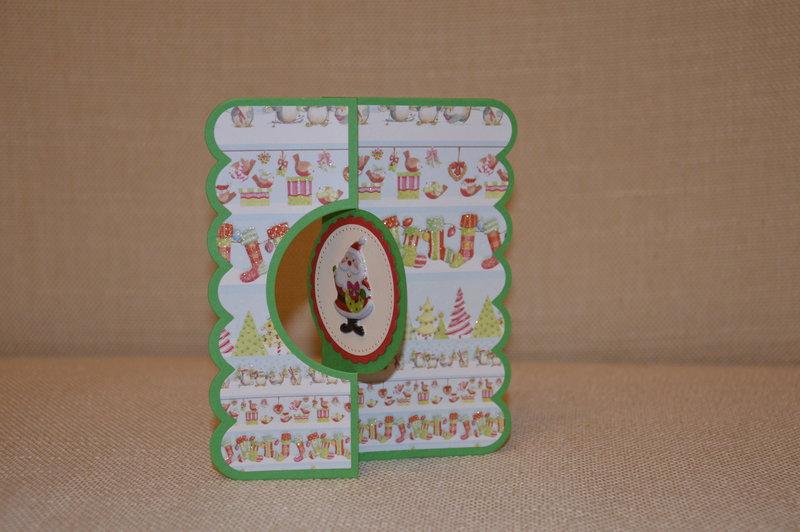 Christmas silhouette card