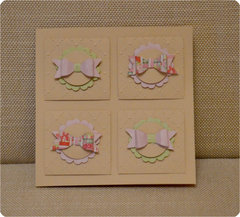 Birthday card with ribbons