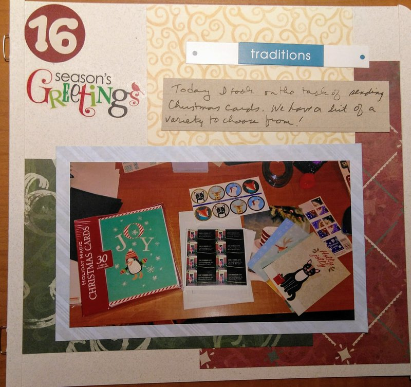 December Daily page 16