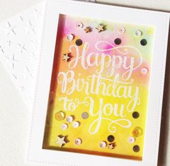 Hidden Embossing Birthday Card