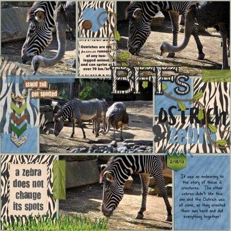 BFFs Ostrich & Zebra