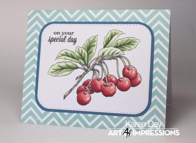 Art Impressions Exclusive Cherry Set card