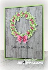 Art Impressions Christmas Wreath