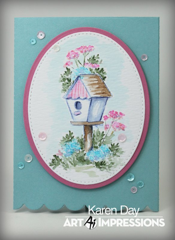 Art Impressions Blooming Birdhouse