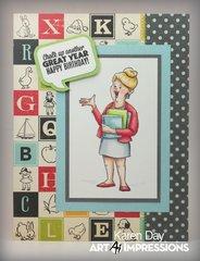 Art Impressions Teachers Rule