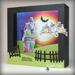 Halloween Shadow Box card