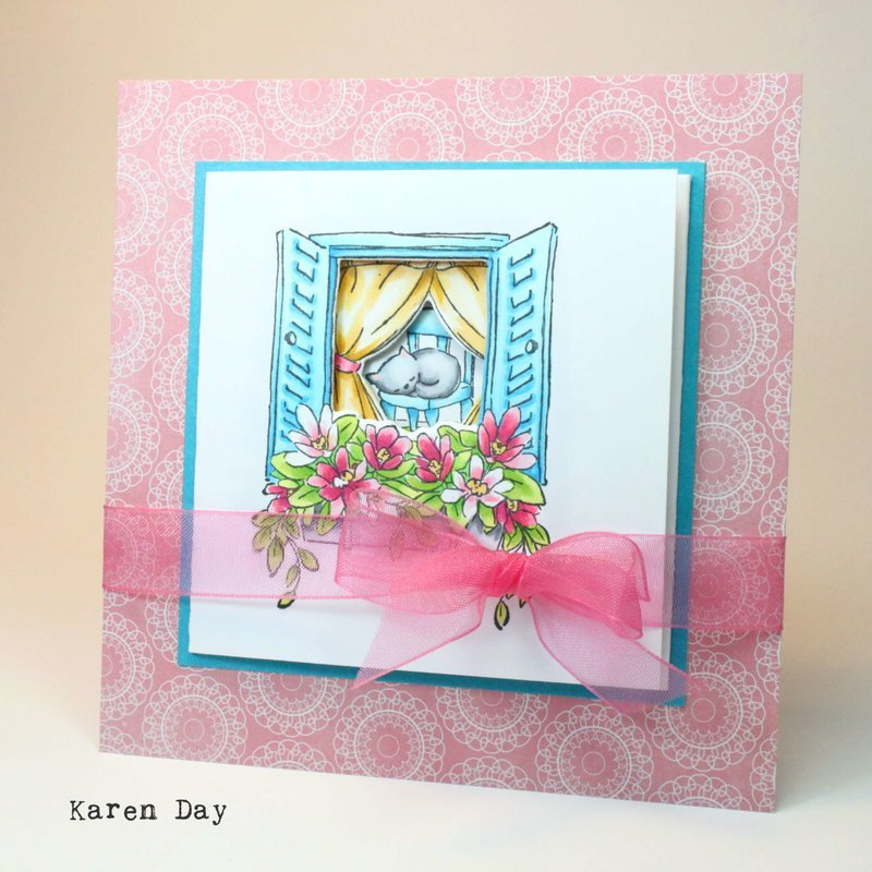 Art Impressions Mini Try-fold card