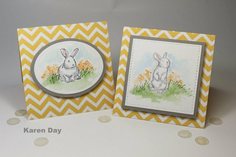 Art Impressions Watercolor Bunnies cards