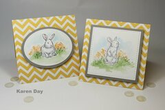 Art Impressions Watercolor Bunnies cards