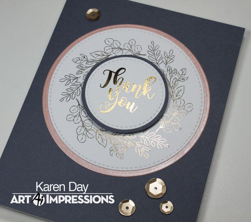 Art Impressions Greenery Invites Card