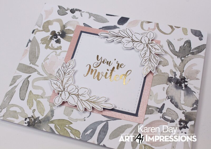Art Impressions Greenery Invites card