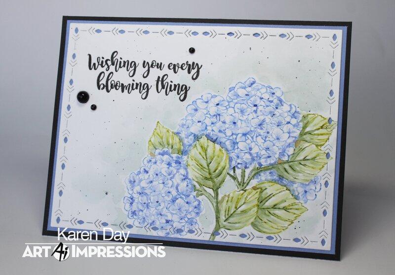 Art Impressions Exclusive Hydrangea Set