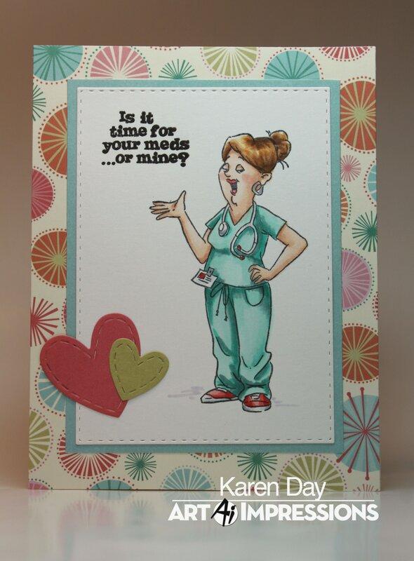 Art Impressions Proud Nurse Card