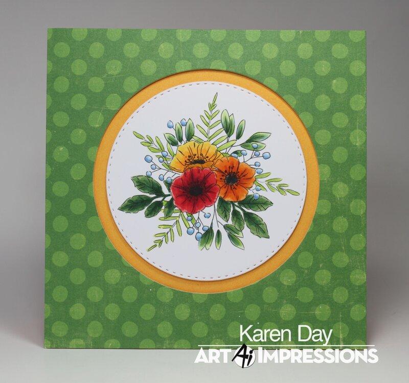 Art Impressions Floral Invites card