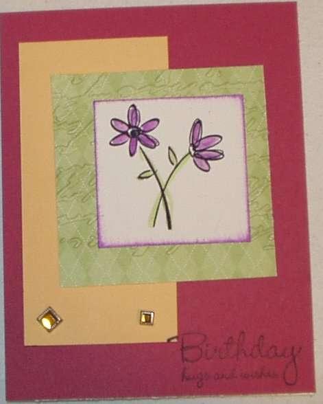 Birthday Card-New SU Square Brads