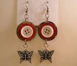 Chipboard Button Earrings