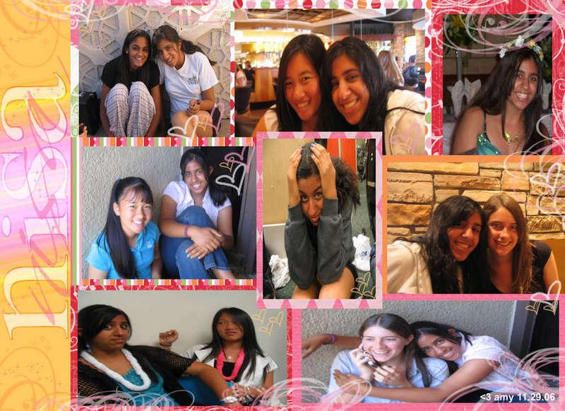 Digital Collage -- Nisa & friends
