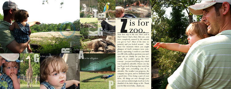 Z is for zoo [two-pager]