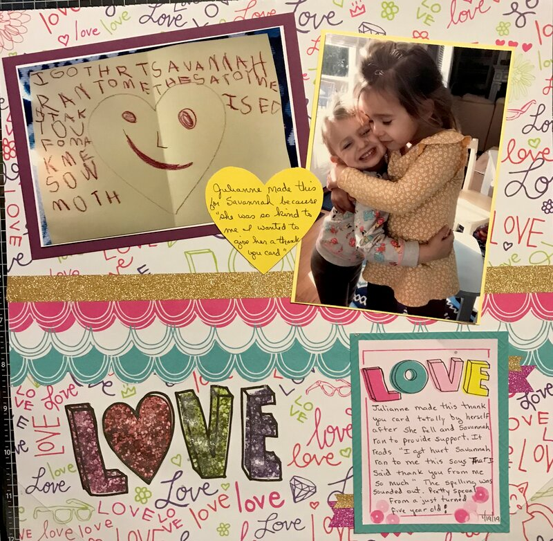 Love with a thank you card