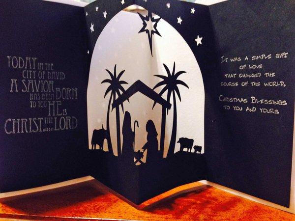 3D Nativity Card