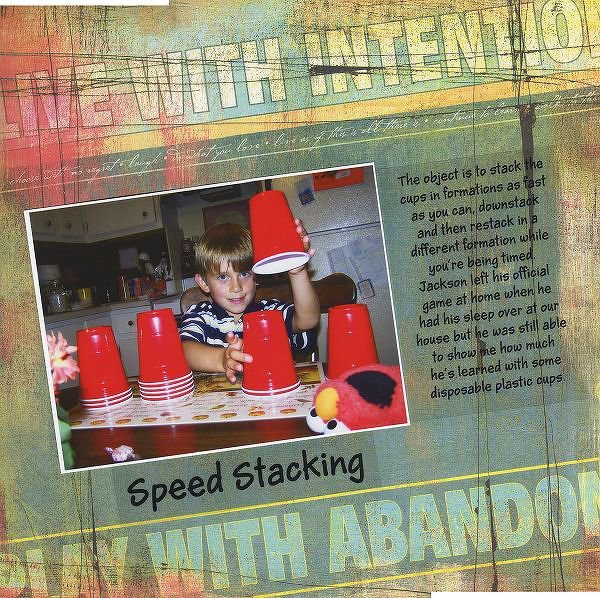Speed Stacking, DW 10/06, Multi Photo & Stash Challenges