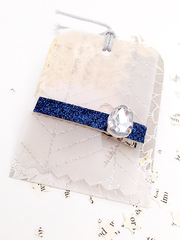 DIY Glitter Clips by Julie Comstock