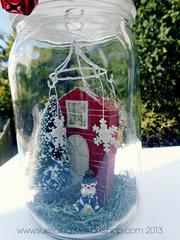 Winter Home in a Mason Jar