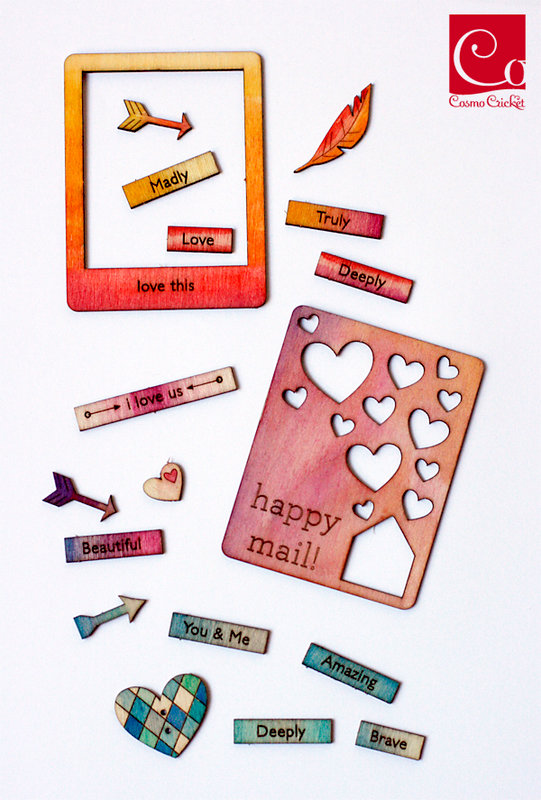 Watercolor Wood Charms by Julie Comstock