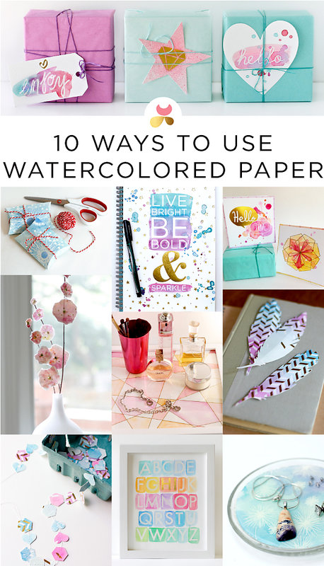 How to Use Watercolor Paper by Julie Comstock for Cosmo Cricket