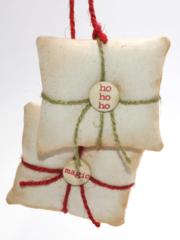 Holiday Pillows by Donna Budzynski