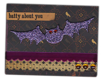 Batty about You - Halloween Card