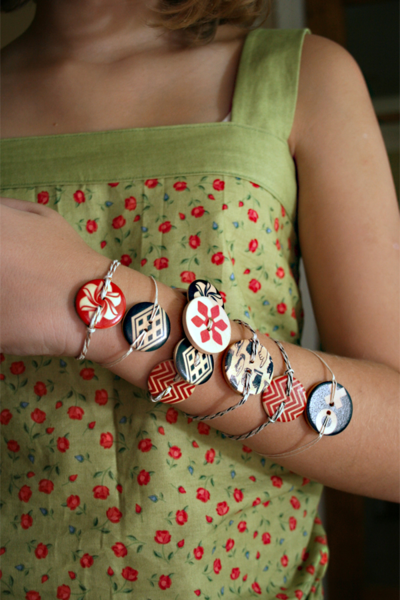 Look What You Can Make with Cosmo Cricket Elements Wood Buttons