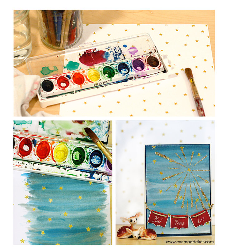Watercolor Holiday Cards from Cosmo Cricket