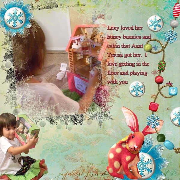A honey bunnie Christmas