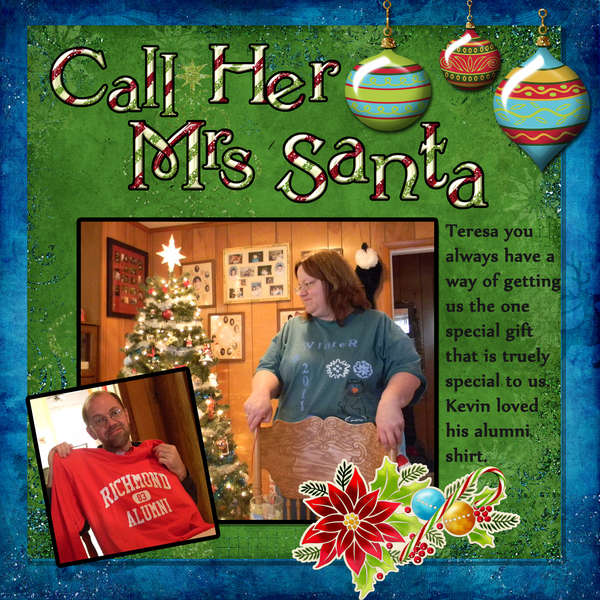 call her Mrs. Santa