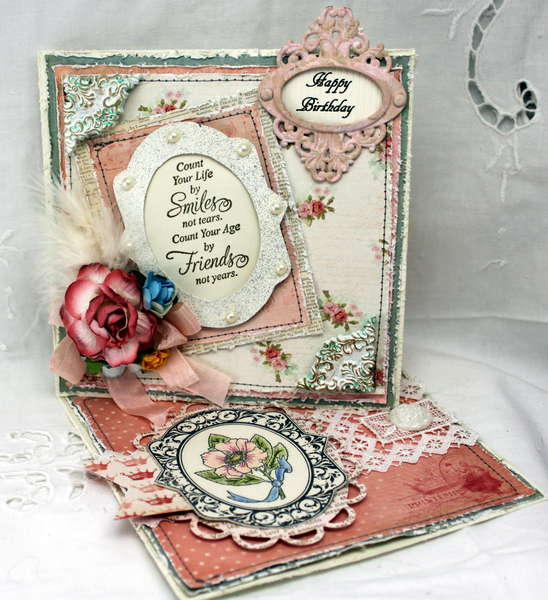 Birthday - Easel Card - DT work for The Shabby Tea Room