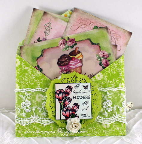 Envelope with recipe cards